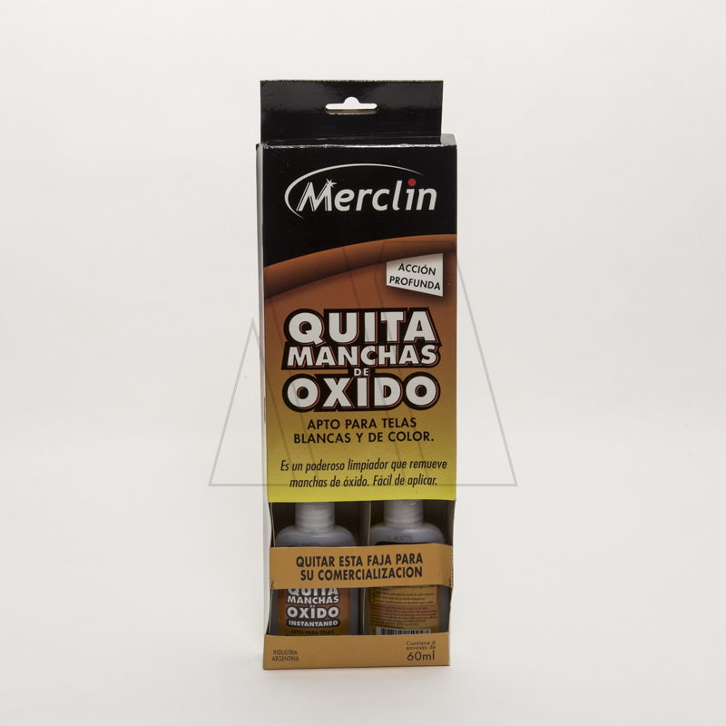 QUITA MANCHAS DE OXIDO MERCLIN 60ML X 6UN