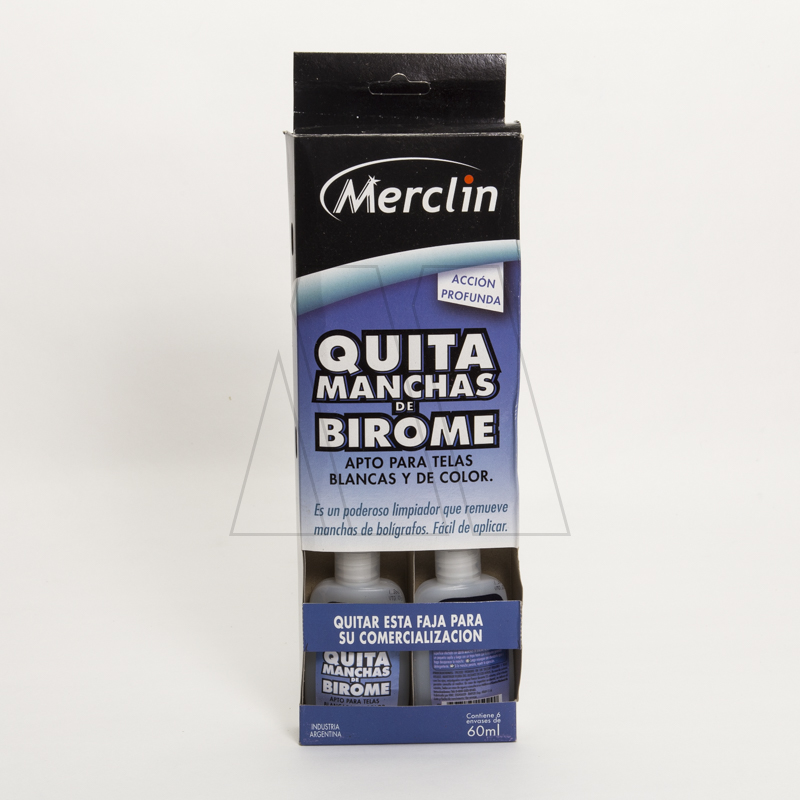 QUITA MANCHAS DE BIROME MERCLIN 60ML X 6UN
